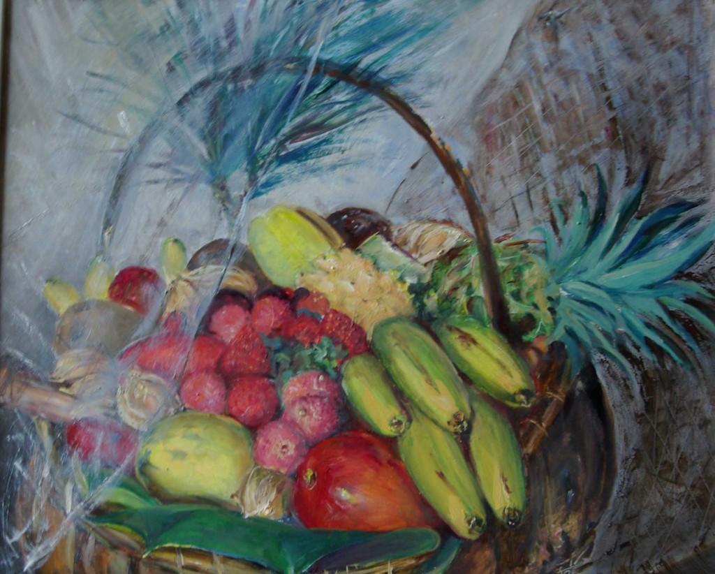 Bodegón frutas tropicales