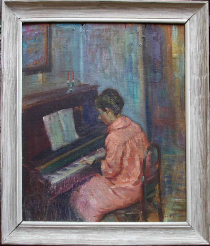 Apunte de Rosario al piano