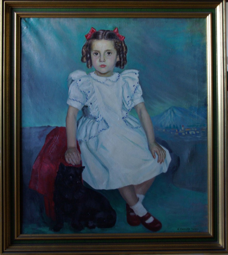 Rosario Carrillo a los 5 años