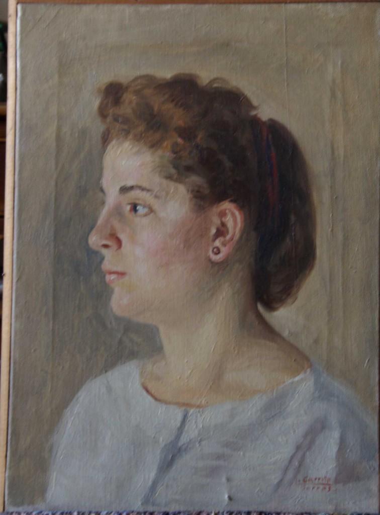 Retrato de Rosario de perfil