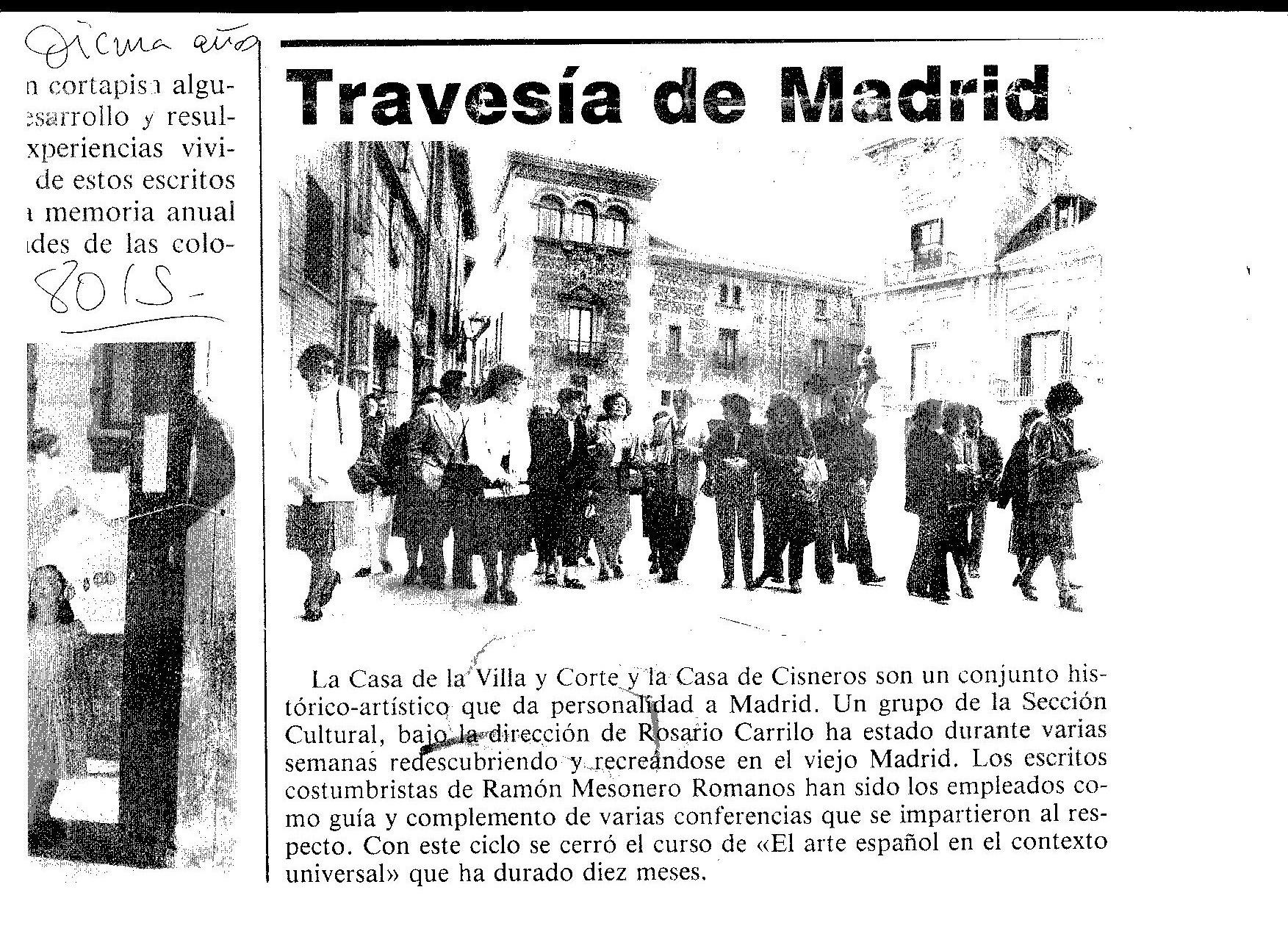 Travesía de Madrid